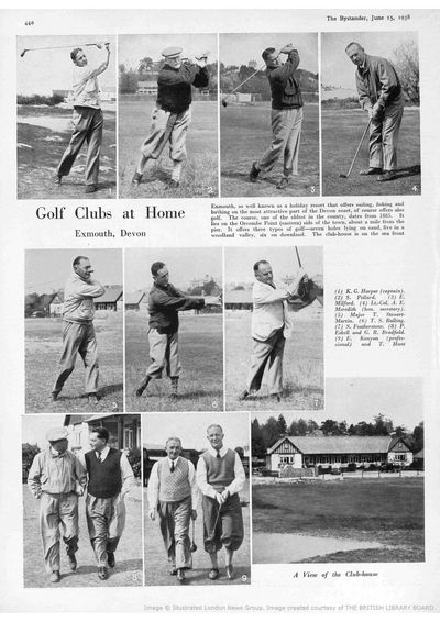 Exmouth Golf Club, Devon. Article from The Bystander in June 1938.