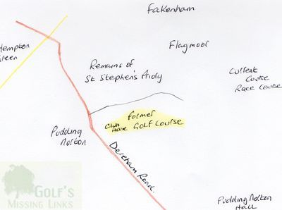 Fekenham Golf Club. Location of the earlier golf course.