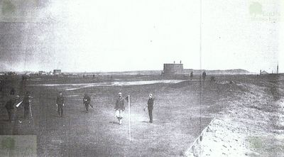 Felixstowe Golf Club, Suffolk. The golf course in the 1890s.