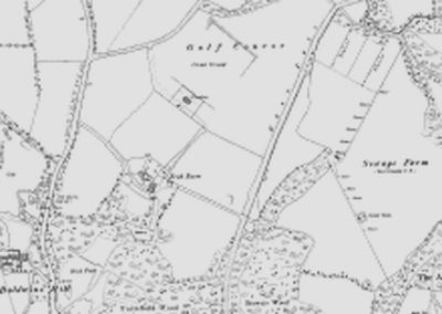 Frith Park Golf Club, East Grinstead, Sussex. The golf course on the 1899 O.S map.