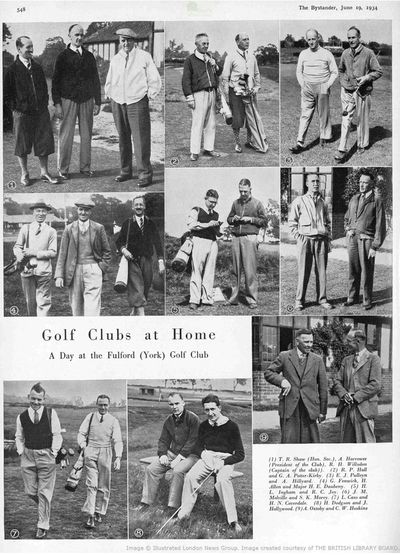 Fulford Golf Club, Water Fulford Hall, Yorkshire. Article from the Bystander in June 1934.