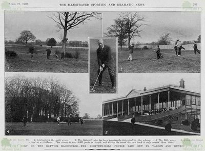 Gatwick Golf Club, Horley, Sussex. Illustrated Sport & Dramatic News April 1907.
