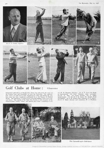 Gloucester Golf Club, Brockworth. Article from The Bystander May 1938.