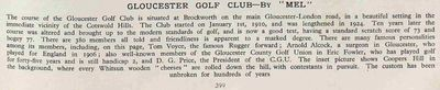 Gloucester Golf Club, Brockworth Park. Article from The Tatler June 1938.