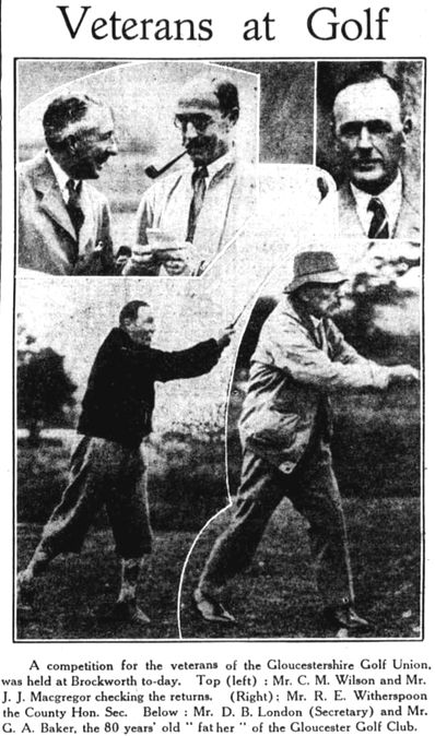 Gloucester Golf Club, Brockworth. Veterans at Golf in May 1931.