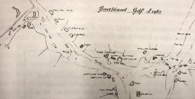 Goathland Golf Club, North Yorkshire. Overall plan of the earlier Goathland golf course.