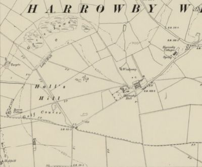 Grantham Golf Club, Harrowby, Lincs. Location of the course on the 1905 O.S. map.