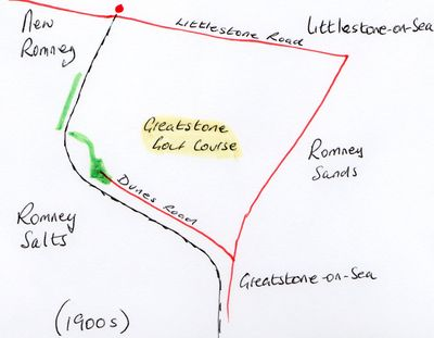 Greatstone Golf Club, Littlestone-on-Sea, Kent. Golf course location.