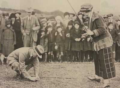 Haltwhistle Golf Club, Northumberland. Opening of the golf course.
