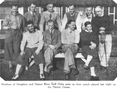 Harton Moor Golf Club, County Durham. Golfers representing Houghton and Harton in May 1938.