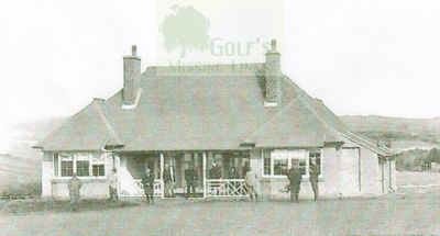 Hastings and St Leonards Golf Club. The clubhouse and golfers.