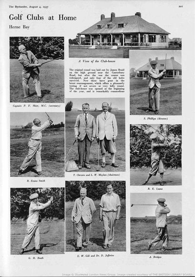 Herne Bay Golf Club, Kent. Article from The Bystander August 1937.