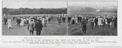 Herne Bay Golf Club, Kent. The opening of the extended course in July 1907.
