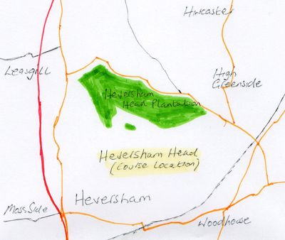 Heversham Head Golf Club, Cumbria. Former golf course location.