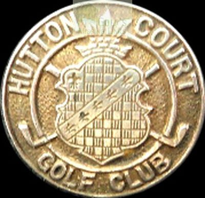 Hutton Court Golf Club, Bleadon, Somerset. Club button.