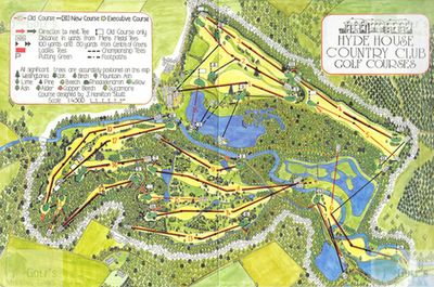Hyde House Country Golf Club, Dorset. Plan and layout of the course.