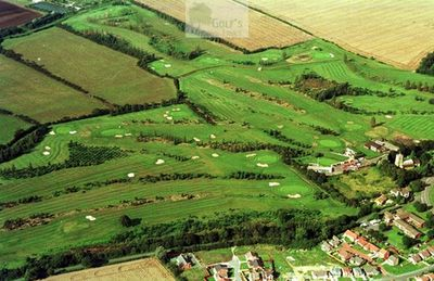 Immingham Golf Club, Lincolnshire. Aerial view of the Immingham Golf Course.