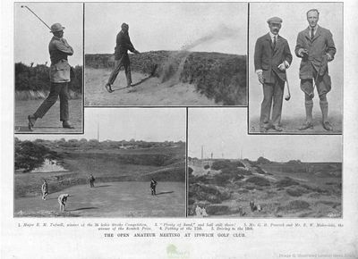 Ipswich Golf Club, Suffolk. From The Illustrated Sporting Dramatic News August 1910.