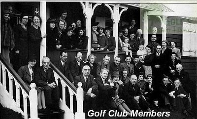 Jarrow & Hebburn Golf Club. Members outside the clubhouse..