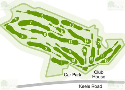 Keele Golf Club, Staffordshire. Course plan.