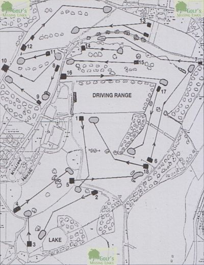 Killiow Park Golf Club, Truro. Scorecard course layout from 2009.