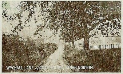King's Norton Golf Club, Birmingham. Wychall Lane and Golf House.