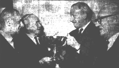 King's Norton Golf Club, Birmingham. Presentation of the Langley Bowl in December 1960.