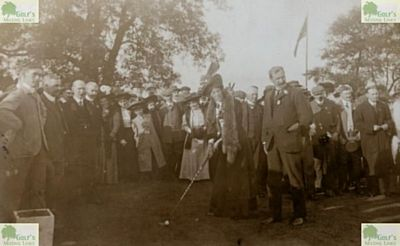 Kirkby Stephen Golf Club, Cumbria. Picture of the opening of the golf course.