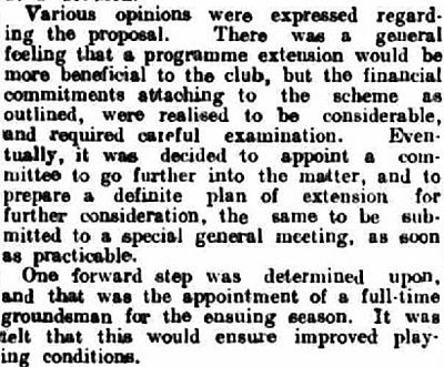 Kirkby Stephen Golf Club, Cumbria. Report on the annual meeting in February 1935.