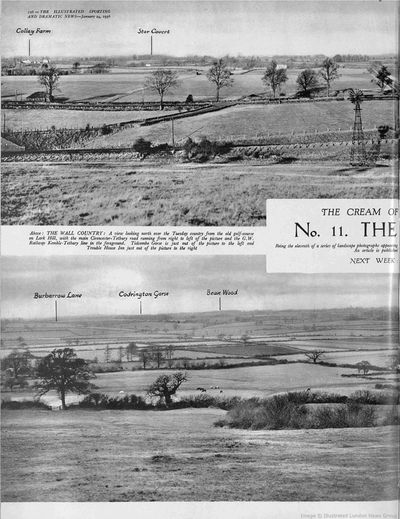 Lark Hill (Larkhill) Golf Club, Tetbury, Glous. Article from Illustrated Sporting Dramatic News January 1936.