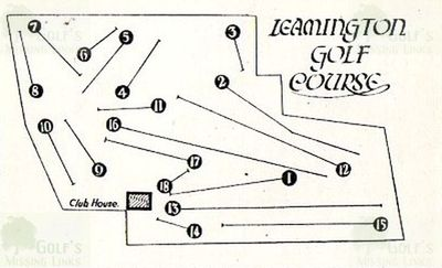 Leamington Golf Club. Eighteen-Hole course layout 1930s.