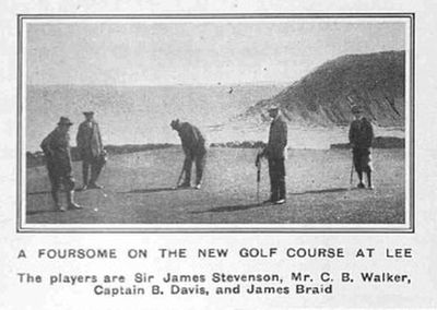 Lee Golf Club, Ilfracombe, Devon. James Braid on the Lee course.