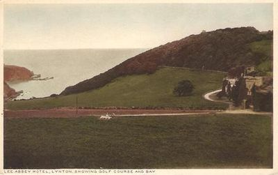 Lee Abbey Hotel Golf Club, Lynton. Postcard showing course.