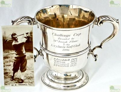 Leyburn Golf Club, North Yorkshire. Picture of the Challenge Cup presented by Joseph Shaw in 1896.