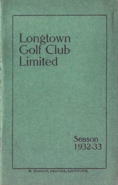 Longtown Golf Club, Cumbria. Booklet 1932-33.
