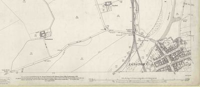 Longtown Golf Club, Cumbria. 1901 O.S map.