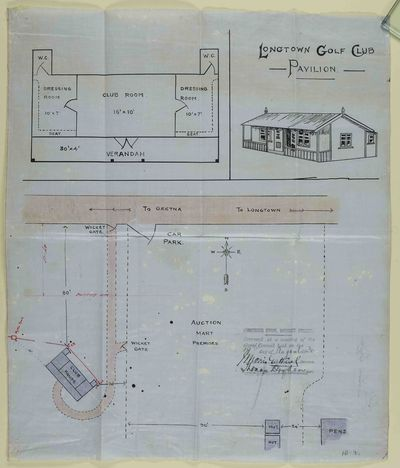 Longtown Golf Club, Cumbria. Plan of the pavilion.