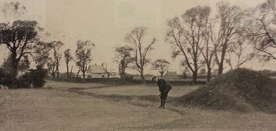 Lowestoft Golf Club, Pakefield, Suffolk. H B Wade on the tenth green.
