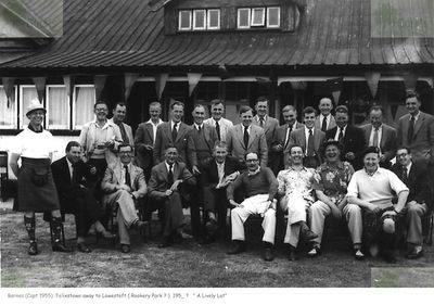 Lowestoft Golf Club, Pakefield, Suffolk. Golf match at Lowestoft circa 1954.