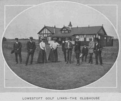 Lowestoft Golf Club, Suffolk. The Clubhouse from The Sphere in June 1910.