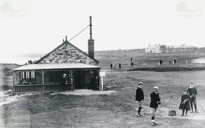 Felixstowe Ladies' Golf Club, Suffolk. The golf course and clubhouse.