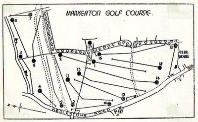 Markeaton Golf Club, Derby. Eighteen-hole course layout.