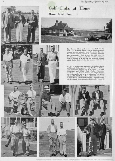 Mersea Island Golf Club, Essex. Article from The Bystander in September 1936.