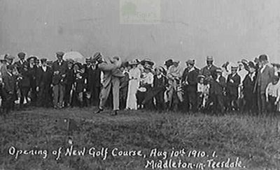 Middleton-in-Teesdale Golf Club, County Durham. The opening of the golf course in 1910
