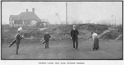 Prince's Ladies' Golf Club, Mitcham, Surrey. Article from The Tatler March 1903.
