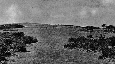 Needles Golf Club, Isle of Wight. The fourteenth hole 1930s.