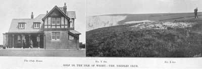 Needles Golf Club, Alum Bay, Isle of Wight. Article from Illustrated and Sporting News July 1905.