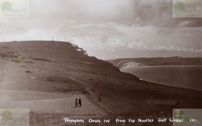 Needles Golf Club, Alum Bay, Isle of Wight. The Needles Golf Links Tennyson Down.