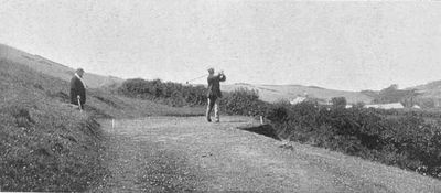 Needles Golf Club, Alum Bay, Isle of Wight. Article from The Illustrated and Sporting News July 1905.