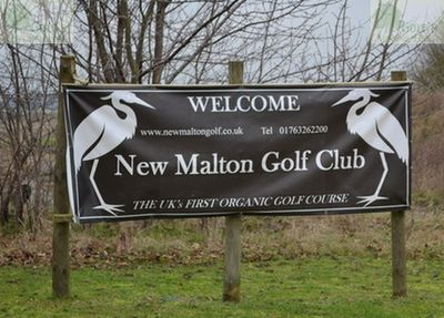 New Malton Golf Club, Royston, Cambridgeshire. The first organic golf course in the UK.